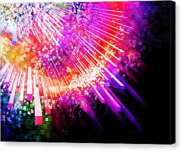 Lighting Explode Canvas Print by Setsiri Silapasuwanchai