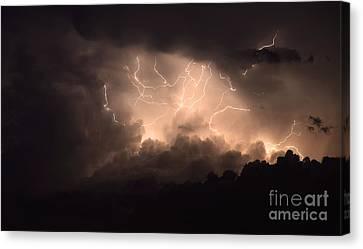 Lightning Canvas Print by Bob Christopher