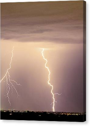 Lightning Bolt With A Fork Canvas Print by James BO  Insogna
