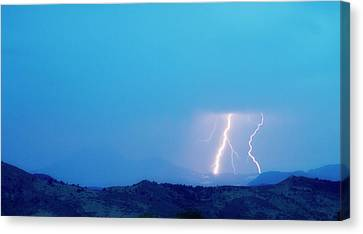 Lightning Bolts Hitting The Continental Divide Crop Canvas Print