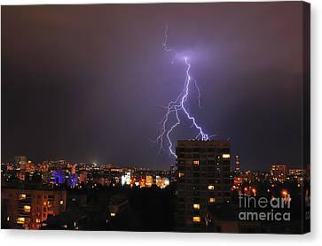 Lightning Canvas Print by Evmeniya Stankova
