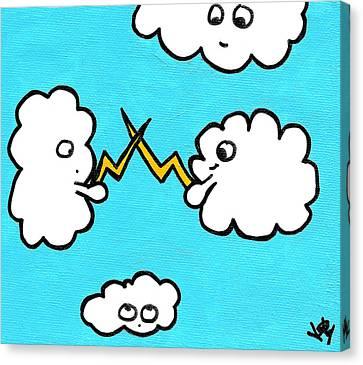 Lightning Fight Canvas Print by Jera Sky