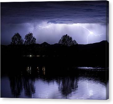 Lightning Over Coot Lake Canvas Print by James BO  Insogna