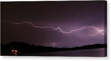Lightning Streak Canvas Print by Alexander Spahn