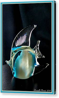 Lights And Glass Study 1  Blue Fish Canvas Print by Danielle  Parent