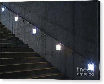 Lights And Stairs Canvas Print by Paul Edmondson