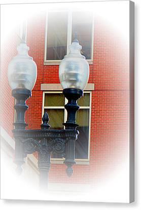Lights Of Boston Canvas Print by Marie Jamieson