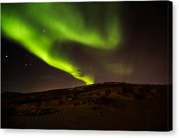 Lights Over The Desert Canvas Print