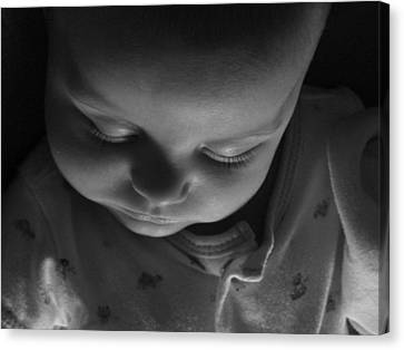 Canvas Print featuring the photograph Like A Baby...finally. by Elizabeth  Sullivan