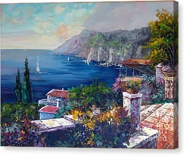 Like A Fairytale - Detail One Canvas Print by Kostas Dendrinos