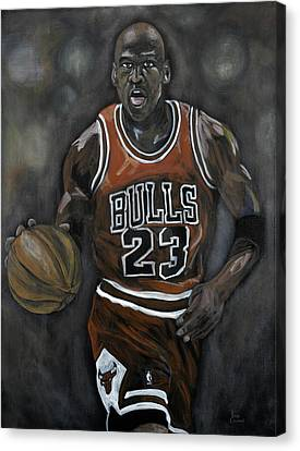 Like Mike Canvas Print by Brad Coleman
