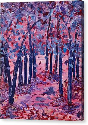 Canvas Print featuring the painting Lilac Avenue by Judi Goodwin