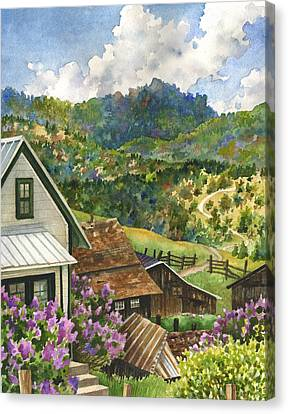 Lilacs At Walker Ranch Canvas Print by Anne Gifford
