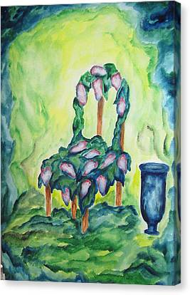 Lilacs In The Garden - Wcs Canvas Print by Cheryl Pettigrew