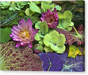 Canvas Print featuring the photograph Lilies No. 33 by Anne Klar