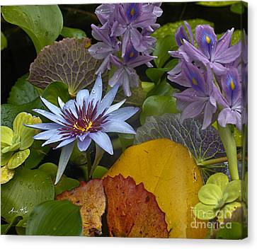 Lilies No. 37 Canvas Print by Anne Klar