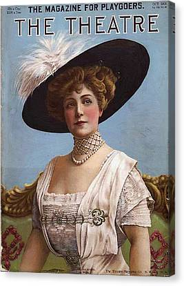Lillian Russell On Cover Canvas Print by Steve K