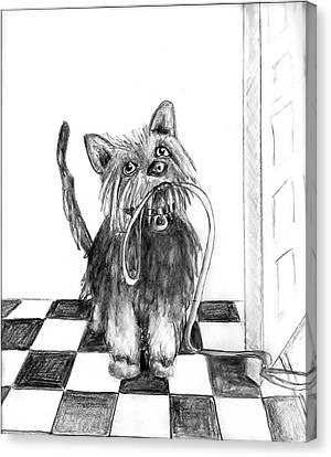 Lillie By The Door Canvas Print by Carol Allen Anfinsen