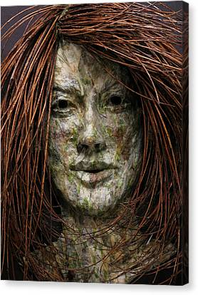 Face Canvas Print - Lilly by Adam Long