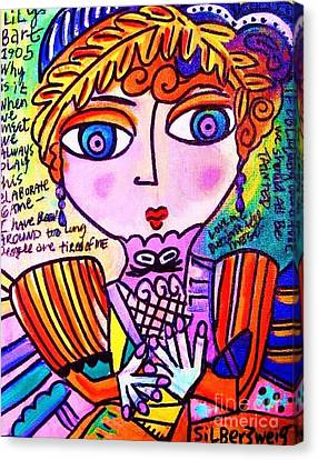 Lily Bart Canvas Print by Sandra Silberzweig