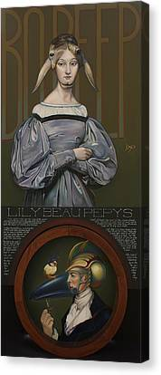 Canvas Print - Lily Beau Pepys by Patrick Anthony Pierson