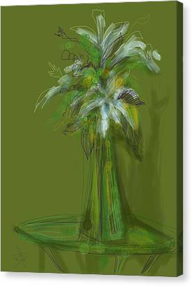 Lily Bouquet Canvas Print by Russell Pierce