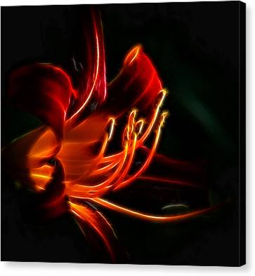 Canvas Print featuring the photograph Lily Flame by Joetta West
