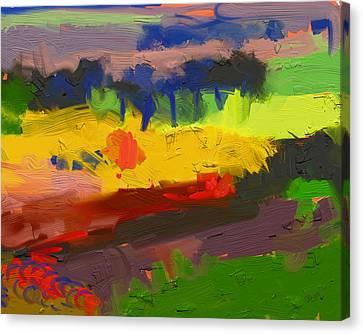 Limburg Landscape Canvas Print by Nop Briex