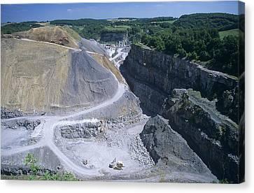 Limestone Quarry Canvas Print
