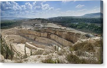 Limestone Quarry In Israel Canvas Print