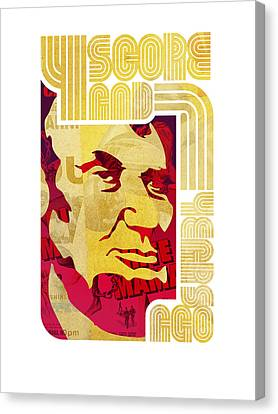 Lincoln 4 Score On White Canvas Print by Jeff Steed