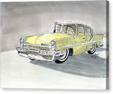 Lincoln Capri 1957 Canvas Print by Eva Ason