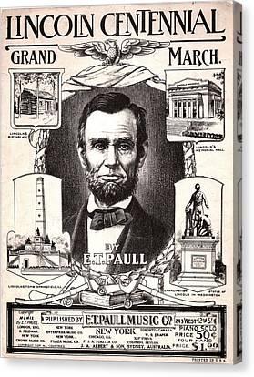 Lincoln Centennial, C1909 Canvas Print by Granger