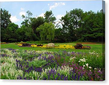 Canvas Print featuring the photograph Lincoln Park Gardens by Lynn Bauer