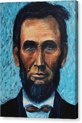 Lincoln Portrait #4 Canvas Print by Daniel W Green