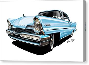 Lincoln Premier In Baby Blue Canvas Print by David Kyte