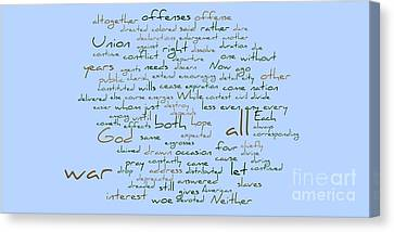 Lincoln's Second Inagural-word Cloud Canvas Print