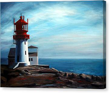 Lindesnes Lighthouse Canvas Print by Janet King