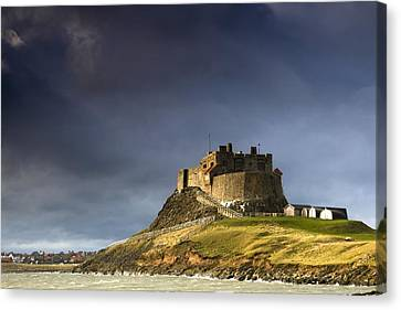 Lindisfarne Castle On A Volcanic Mound Canvas Print by John Short