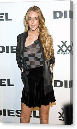 Lindsay Lohan At Arrivals For Diesel Canvas Print by Everett