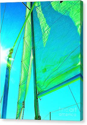 Lines And Sheets Canvas Print by Julie Lueders