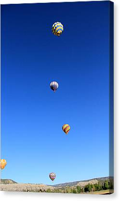 Lining The Sky Canvas Print