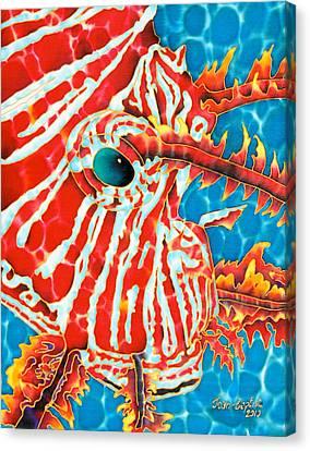 Lion Fish Face Canvas Print by Daniel Jean-Baptiste