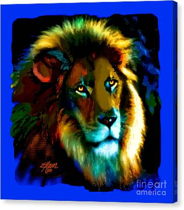 Lion Icon Canvas Print by Elinor Mavor