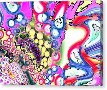 Liquid Berries Canvas Print by Alex Porter