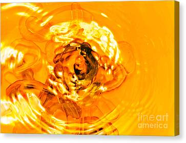 Liquid Gold Canvas Print by Andee Design