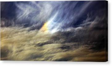 Canvas Print featuring the photograph Liquid Sky by Sandro Rossi