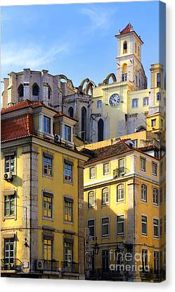 Lisbon Buildings Canvas Print by Carlos Caetano