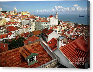 Rooftop Canvas Print - Lisbon Rooftops by Carlos Caetano