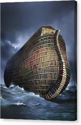 Literary Ark, Conceptual Artwork Canvas Print by Smetek